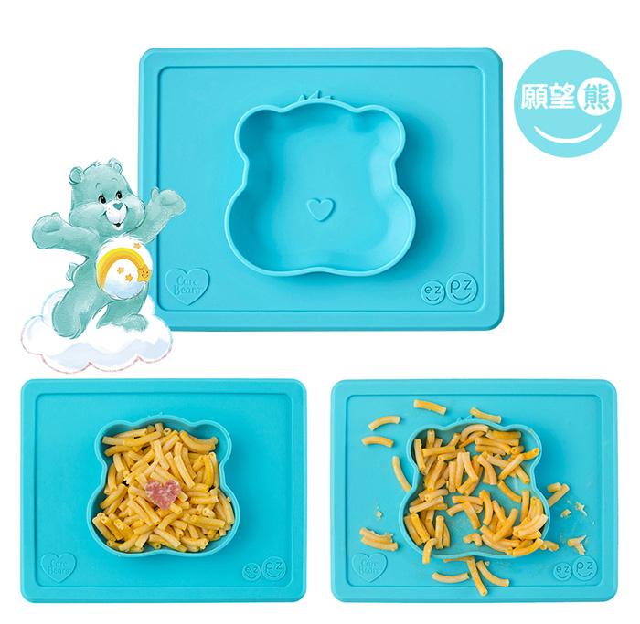 iae創百市集 美國EZPZ矽膠幼兒餐具 Happy Mat快樂防滑餐盤- 簡約灰(迷你版)