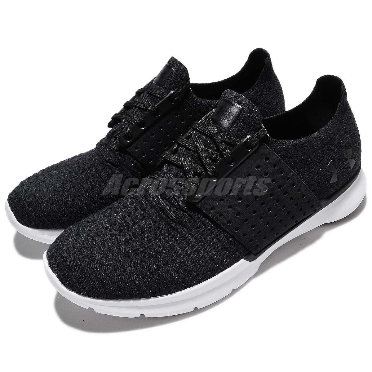 Under Armour UA慢跑鞋Slingwrap黑白運動鞋基本款黑白男鞋PUMP306 1295724001