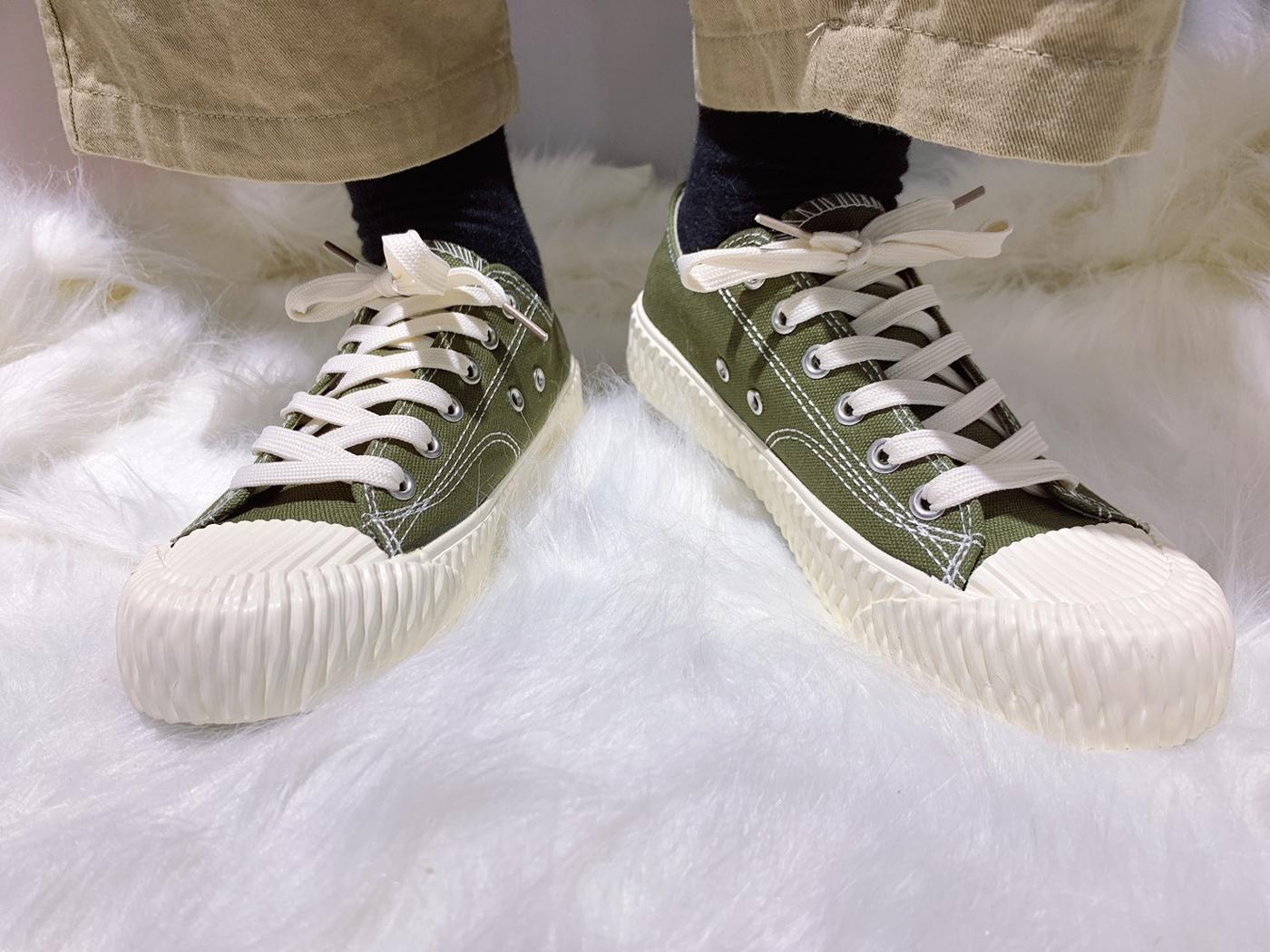X-INGCHI. 女餅乾頭布鞋 綠 NO. X0020