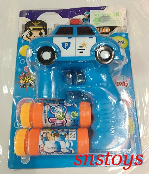sns古早味警車造型泡泡機電動聲光連發泡泡槍泡泡水1隻180元圖案顏色隨機出貨