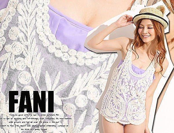 方妮FaNi韓國韓版仙女蕾絲背心鉤花罩衫沙灘海灘可內搭褲洋裝BRA比基尼泳裝泳衣