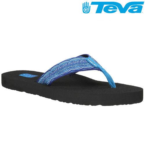 TEVA《女款》超輕量舒適記憶鞋床織帶夾腳拖 Mush 2 - 圖騰藍