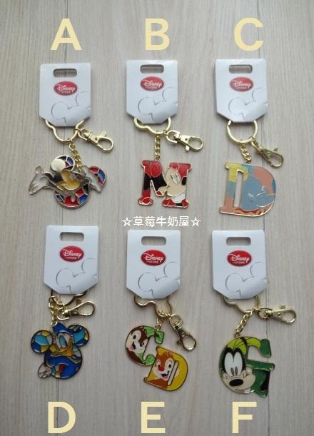 草莓牛奶屋日本進口DISNEY STORE經典人物總動員可愛鑰匙圈