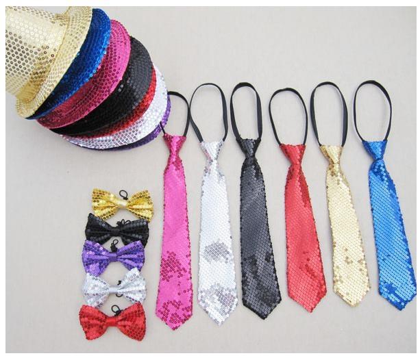 預購 - 多色大人兒童通用款韓版亮片領帶街舞舞蹈魔術表演專用領帶