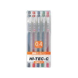 百樂PILOT HI TEC-C超細鋼珠筆(0.4)5色組