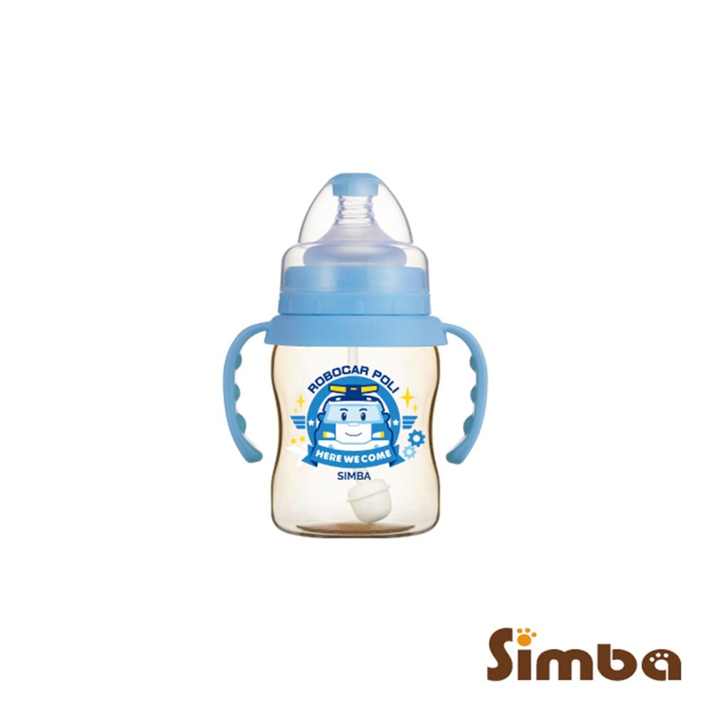 小獅王辛巴 波力PPSU自動把手寬口葫蘆小奶瓶(200ml)