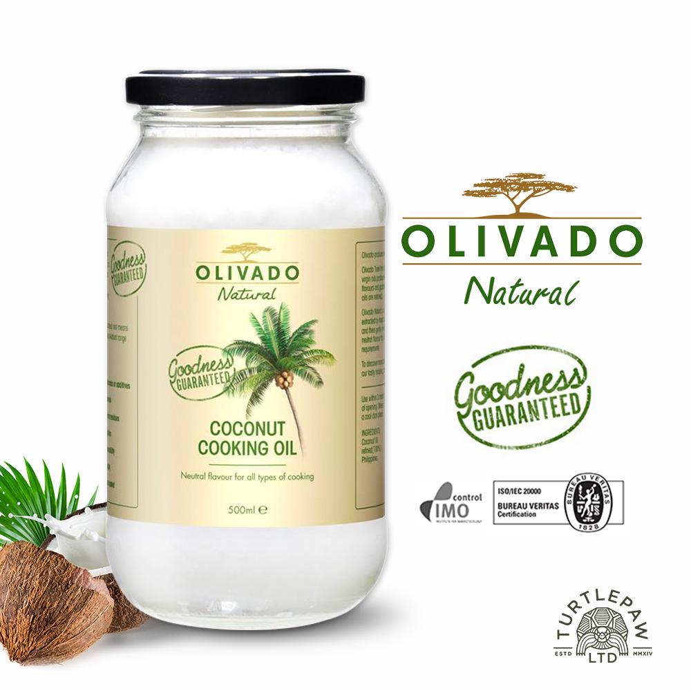 Olivado紐西蘭原裝進口椰子油1瓶500毫升