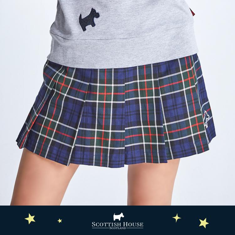 前百褶經典褲裙 Scottish House【AJ2204】