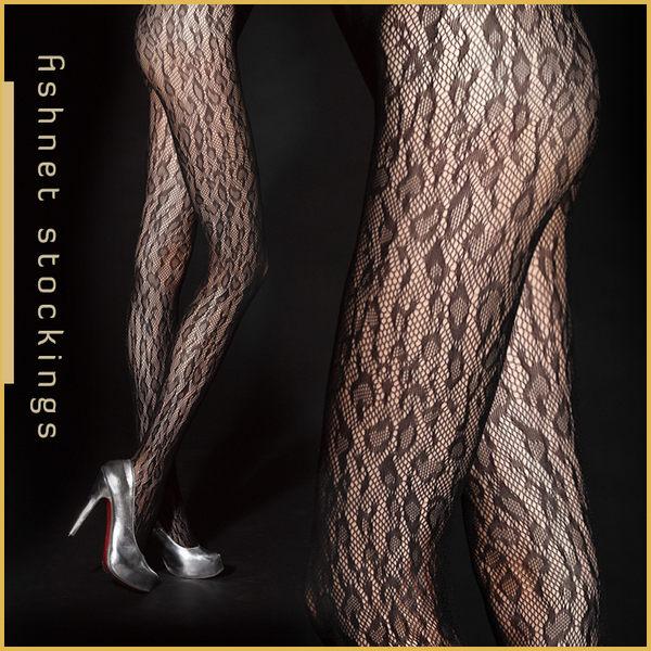 VOLA 維菈襪品‧歐式風情 流行花紋網襪 跑趴約會超性感-狂野豹紋