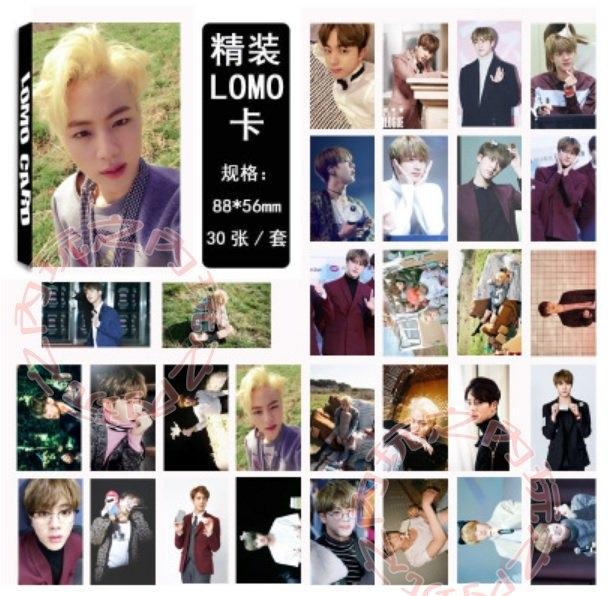 金碩珍BTS防彈少年LOMO小卡照片寫真組30張E512-B玩之內韓國JIN