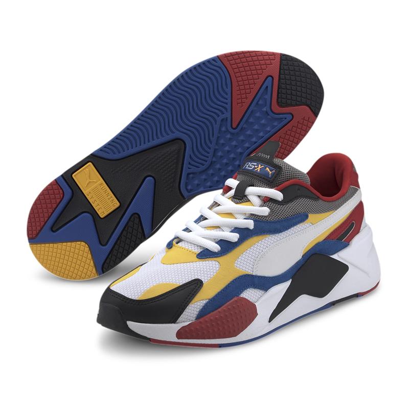 Puma RS-X Puzzle 白 男女 運動鞋 老爹鞋 慢跑鞋 鋼彈 厚底 休閒鞋 慢跑鞋 37157004