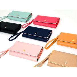 GSH韓版皇冠長板皮夾零錢包手機包護套手提包IPHONE七色可選
