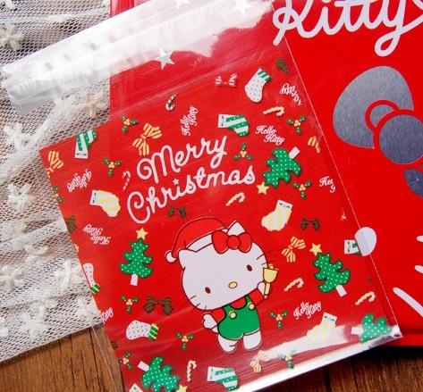 95入 聖誕節KT 餅乾袋 餅乾袋 包裝袋 塑膠袋 自黏袋