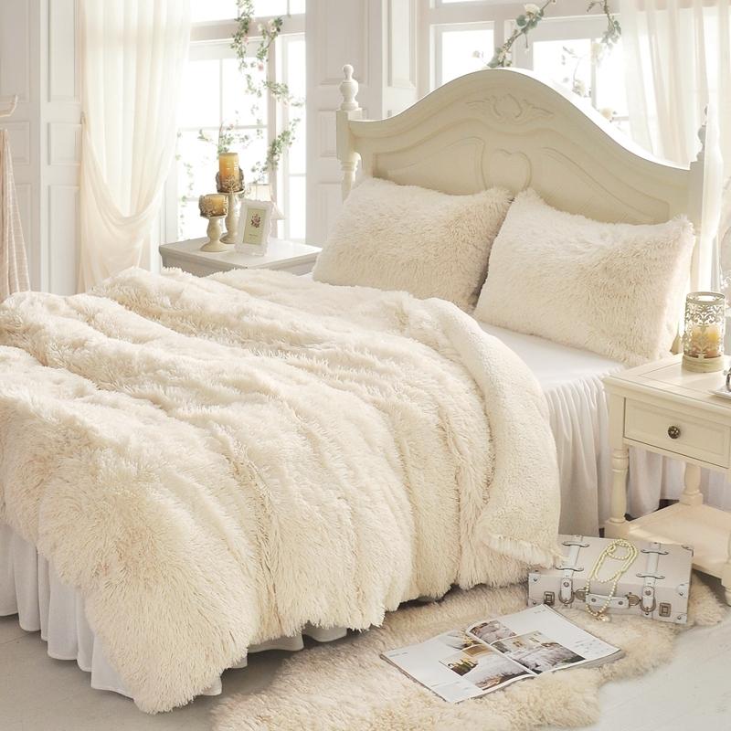 法蘭絨床罩組白色羊羔絨5尺加絨雙人床包法蘭絨床組兩用被毯ikea訂製刷毛佛你企業