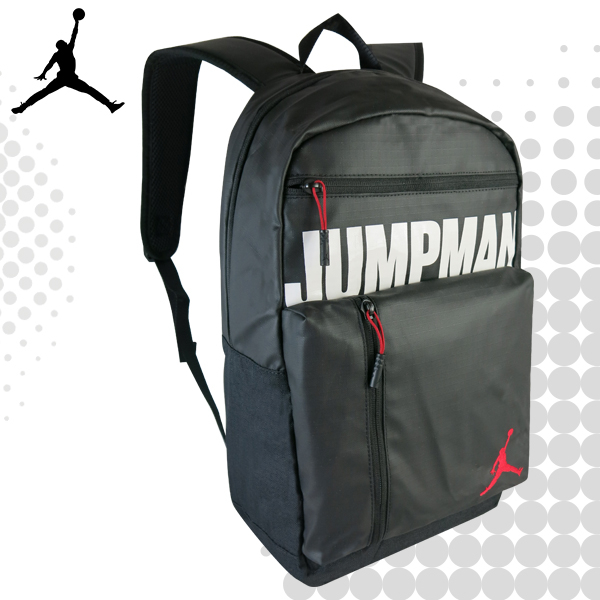 JORDAN 喬丹 後背包 運動背包 休閒雙肩包 電腦包 多夾層 9A0275 得意時袋