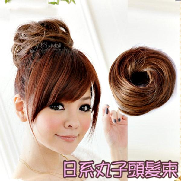 Qmishop 日系可愛甜甜圈丸子頭髮量加多髮圈/髮束假髮【P001】