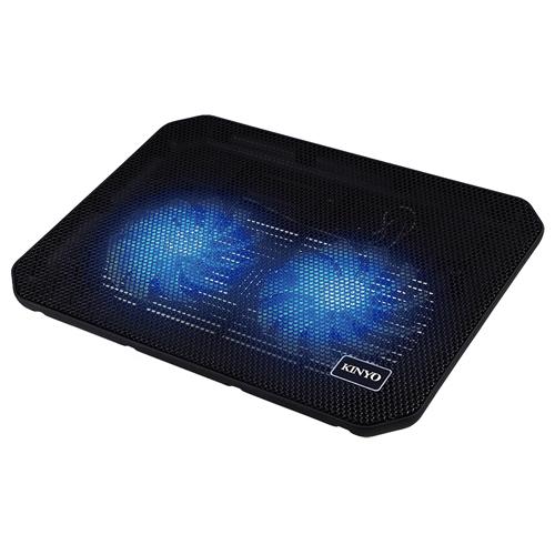 KINYO超靜音雙風扇筆電散熱墊NCP-015愛買
