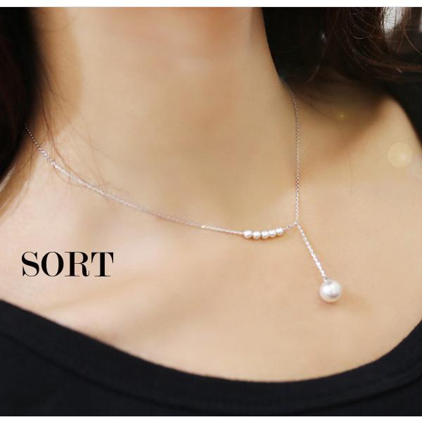 項鍊點綴之心氣質甜美珍珠細鍊短款鎖骨鍊1DDN0143