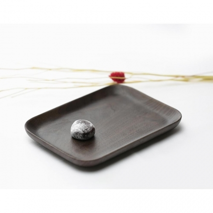 【天然原木作】閒情逸事長型盤/餐盤/ 木盤/餐具 核桃木L