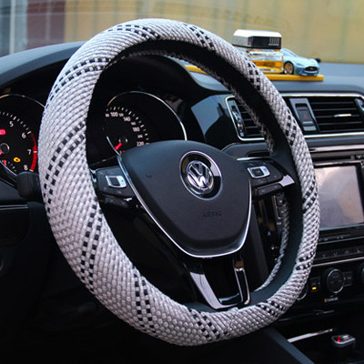 汽車方向盤套正韓新款汽車把套方向盤套夏季冰絲防滑汽車方向盤套四季通用型方向套