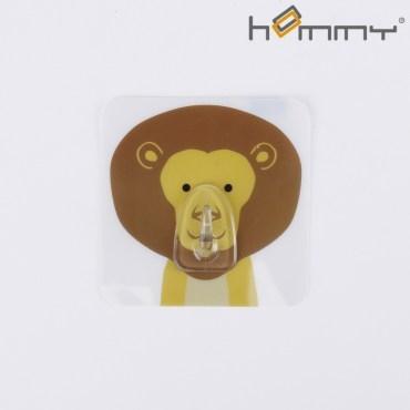 HOMMY黏貼式掛勾-獅子單入