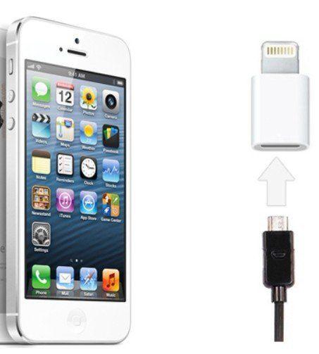 【世明國際】mirco usb轉蘋果iphone5 8針 轉換器 ipad mini數據線轉接頭