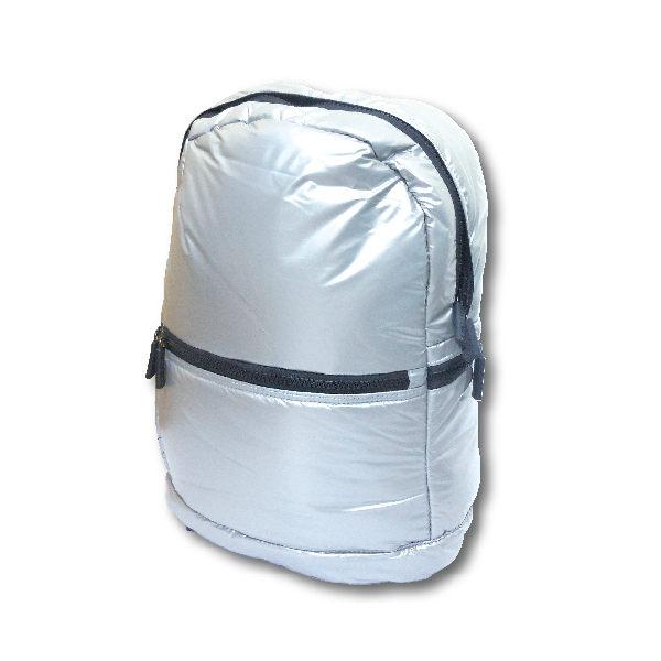 炫彩時尚泡泡筆電包筆電收納太空背包銀白款亮黑款