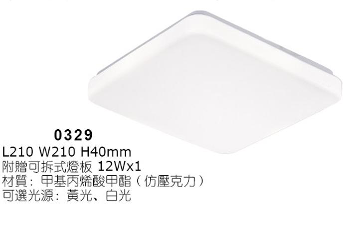 燈王的店最新可換式晶片LED吸頂燈浴室.陽台.走道.玄關附LED12Wx1白光黃光0329