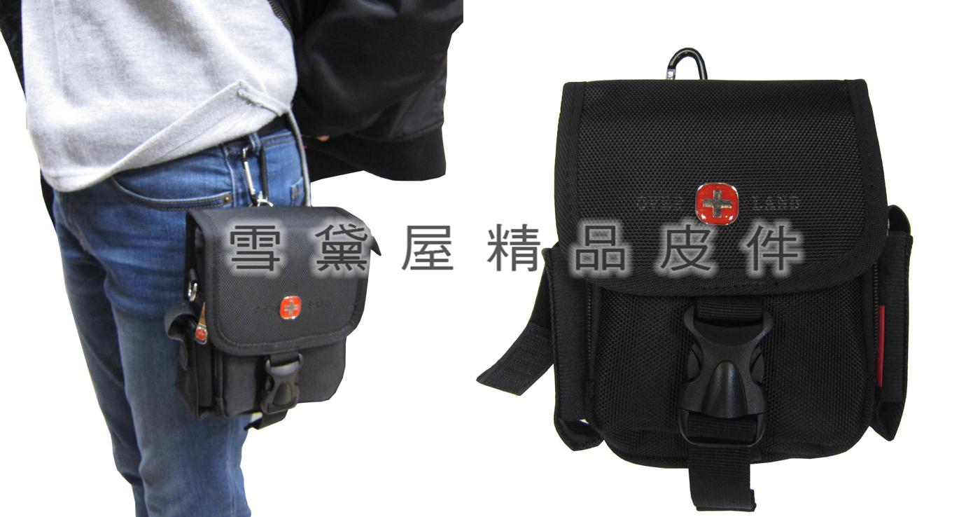 雪黛屋-OVER-LAND腰包外掛式腰包大容量防水隨身物品工作袋工具袋可穿過皮帶多功能T2957