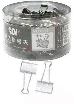 SDI (手牌) NO.0235-1 (25mm) 銀色長尾夾