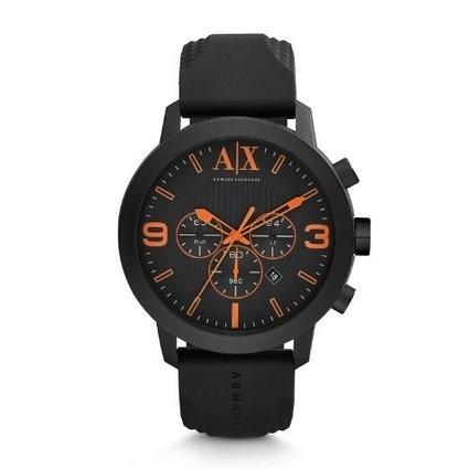 日本のテーブル阿瑪尼黑色錶盤黑色橡膠石英男錶 預購十天