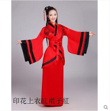 熊孩子漢服古裝成人曲裾表演服女裝正規曲裾改良主图款