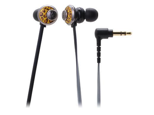 台中平價鋪全新鐵三角ATH-CKF77耳塞式耳機豹紋優美曲線女性專屬台灣鐵三角公司貨