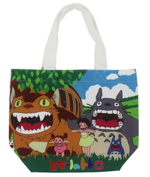 【卡漫城】 Totoro 龍貓 手提袋 魔鬼氈 餐袋 便當袋 手提包 五月 貓巴士 草壁皋月