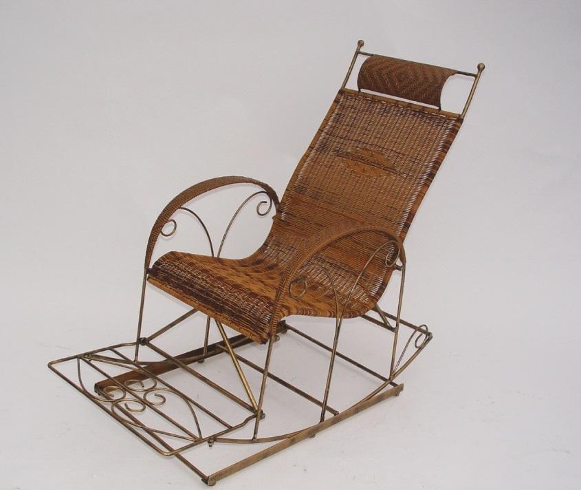 南洋風休閒傢俱戶外餐椅系列-鍛造編織搖椅戶外休閒搖椅老爺編藤搖椅HC319