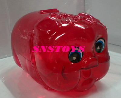 sns 古早味 懷舊童玩 透明 大豬公(大) 存錢筒 長寬22x13cm顏色隨機出貨