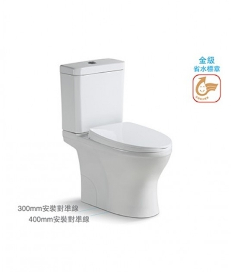 【麗室衛浴】美國KARAT凱樂 原裝進口 瀑布龍捲式 雙體馬桶  K-2896