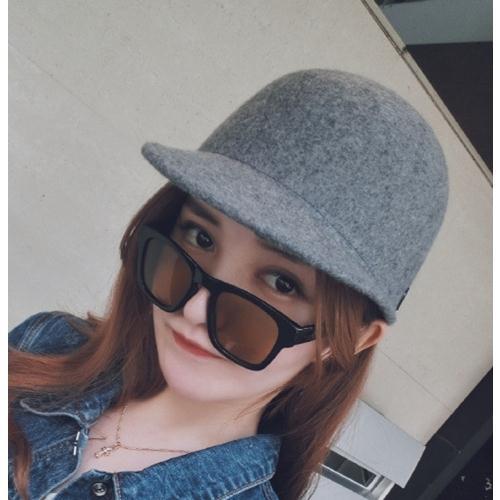 Ministyle帽子韓仿羊毛呢棒球帽馬術帽簡約素面純色百搭造型閨蜜情侶交換禮物送禮