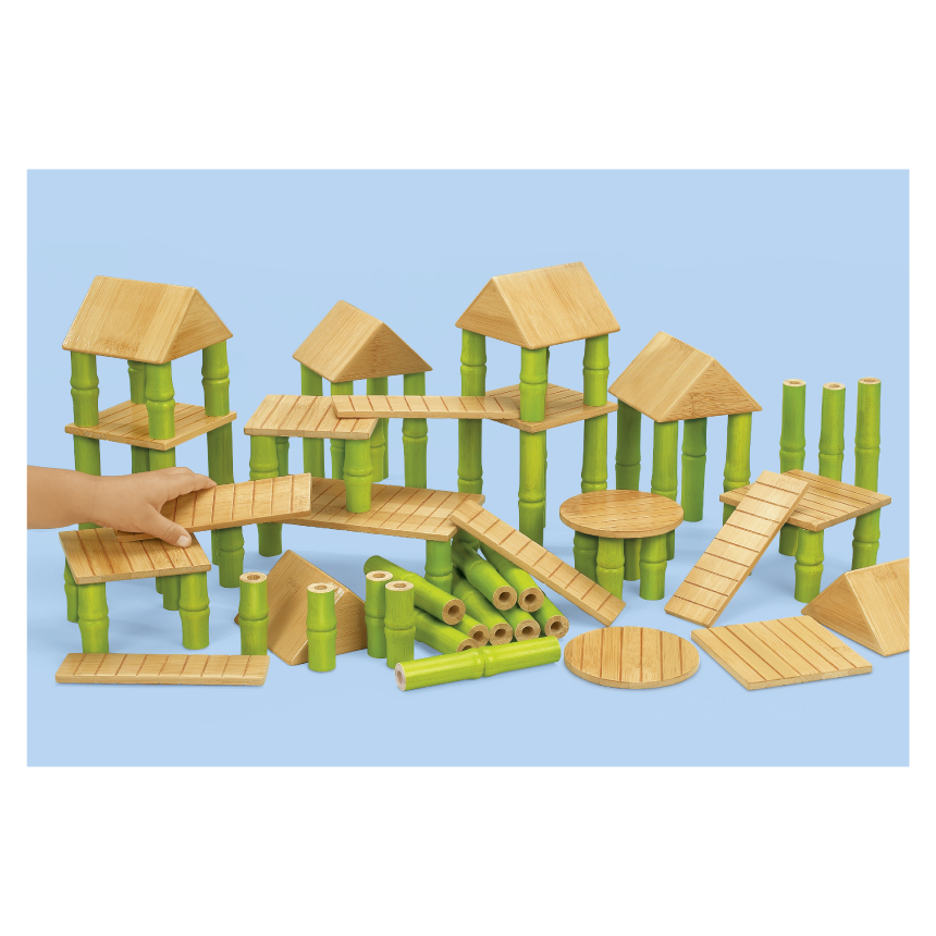 竹屋積木組Lakeshore兒童幼兒教具玩具道具遊戲社會扮演想像創造建構造型組裝玩偶積木模型