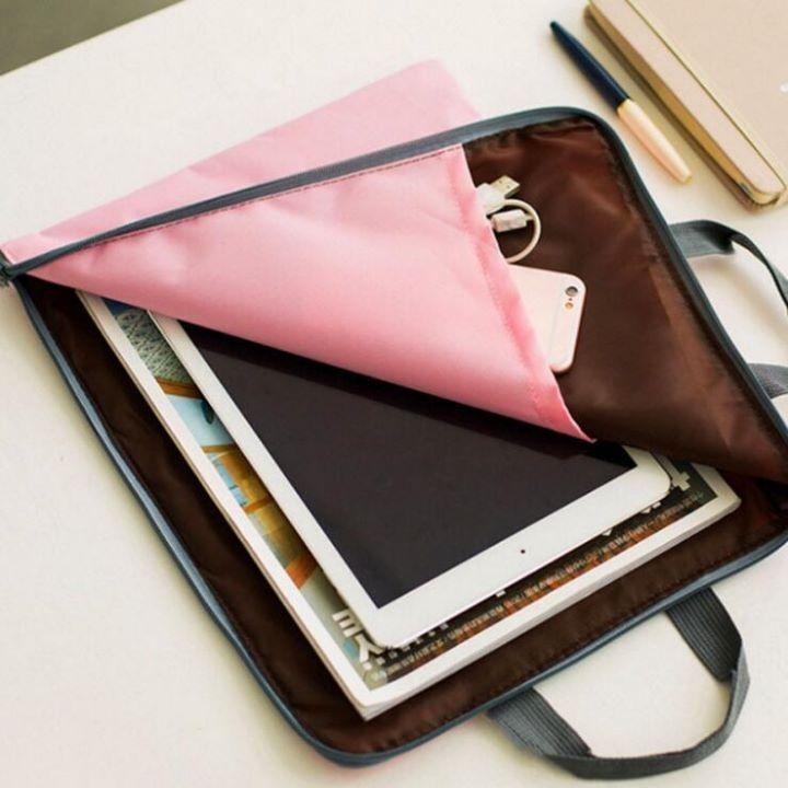 蘋果平板3C文件收納袋手提袋帆布A4文件袋資料袋-艾發現