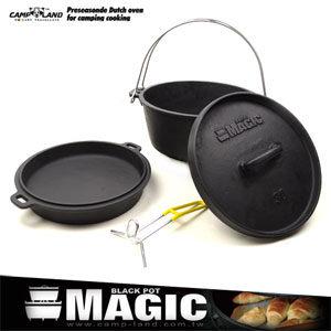 荷蘭鍋具頂級萬能美式二合一鑄鐵鍋.12吋平底鍋.煎鍋炒鍋油炸鍋.露營用品推薦哪裡買MAGIC