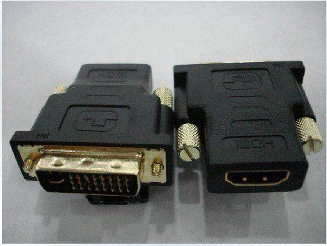 【世明國際】鍍金DVI轉接頭 DVI24 5公轉HDMI母 DVI轉HDMI轉接頭