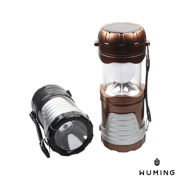 太陽能充電多功能露營燈手提超亮LED照明戶外手機野外手電筒求生燈無名K08108