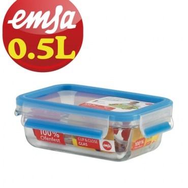 德國EMSA專利上蓋無縫頂級玻璃保鮮盒德國原裝進口0.5L