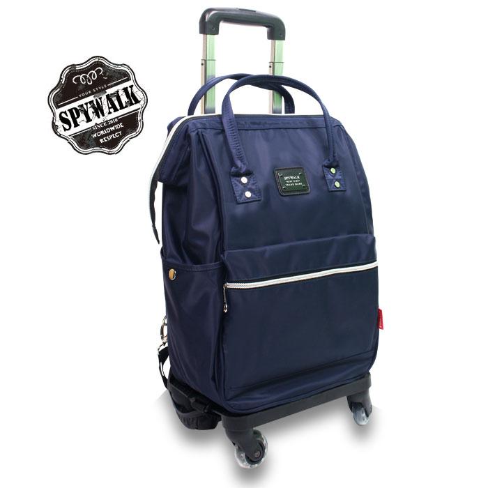 拉桿旅行後背包SPYWALK專利可拆式防水斜紋布360度大輪拉桿電腦流行後背包加大款NO:S7017