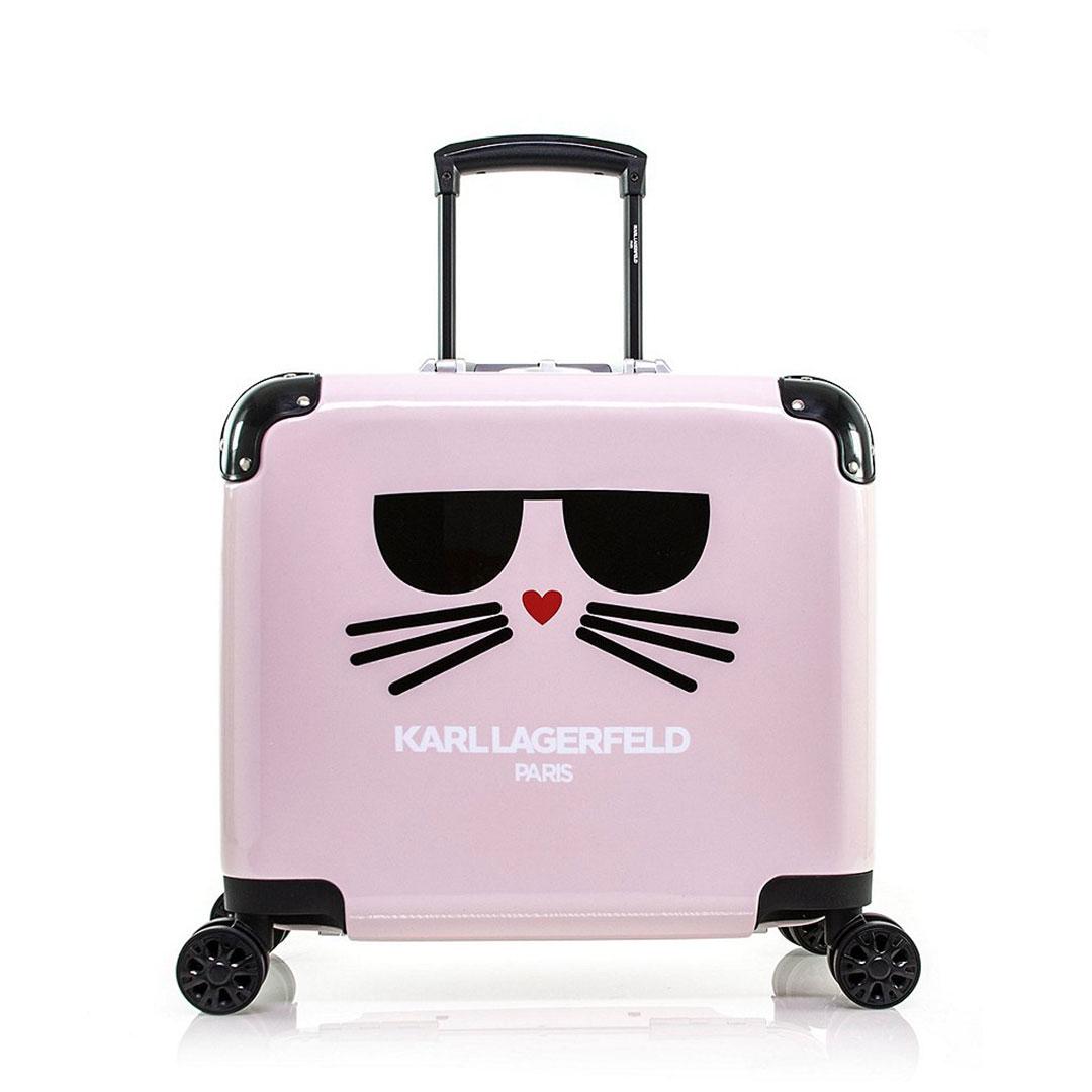Karl Lagerfeld 卡爾 老佛爺 登機箱 Choupette登機箱-粉紅