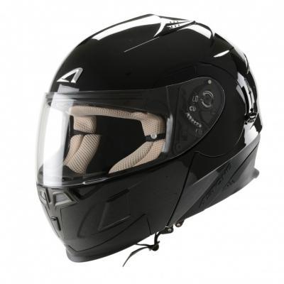 中壢安信法國ASTONE RT1000素色黑全罩式可掀式安全帽可樂帽內置墨片下巴可掀
