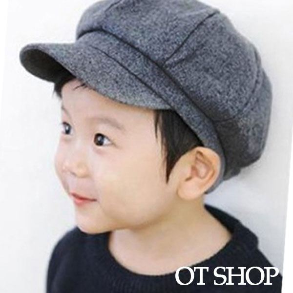 OT SHOP 兒童款 帽子 八角帽 畫家帽 小孩配件 毛呢材質 親子出遊穿搭配件 現貨 C5000