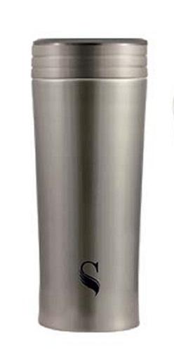等一個人咖啡真空雙層內陶瓷保溫杯300ml-金屬色