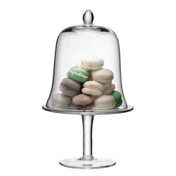 英國LSA Cake Stand Dome 22.5cm Serve風味系列高腳玻璃蛋糕皿